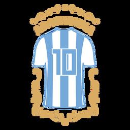 Camiseta futbol insignia argentina