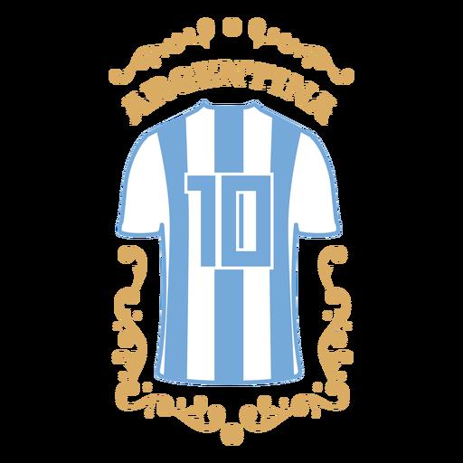 Soccer t shirt argentina badge