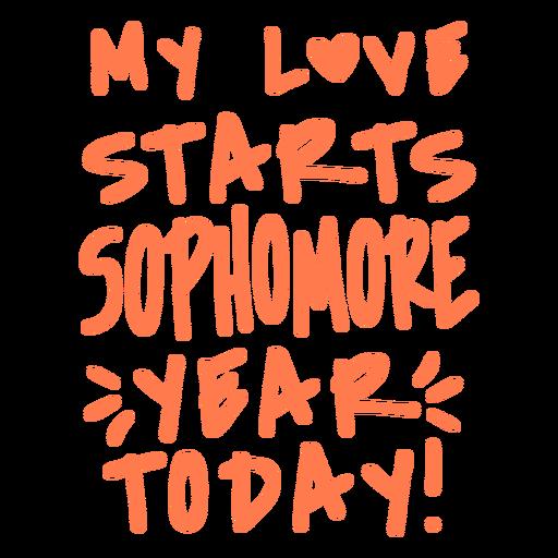 Sophomore grade love lettering design