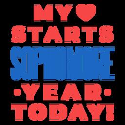 Segundo ano de volta à escola