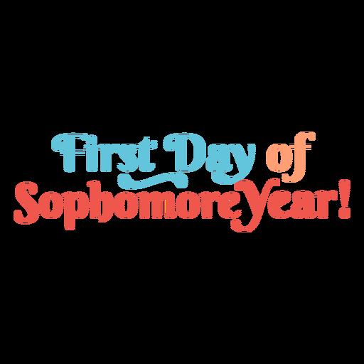 Letras de primer día de segundo año