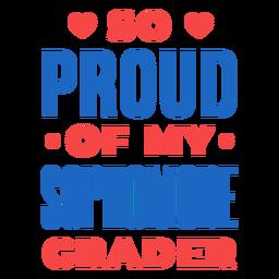 Citação orgulhosa do segundo ano