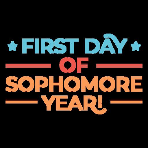 Cita del primer día para estudiantes de segundo año