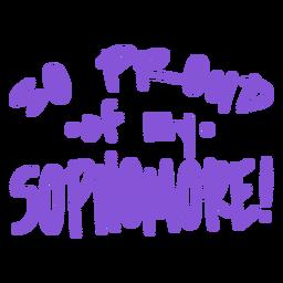 Letras de orgulho do segundo ano do ano