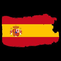 Diseño de bandera de España brushy