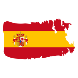 Spain brushy flag design