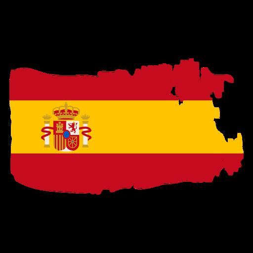 Diseño de bandera de España brushy Transparent PNG