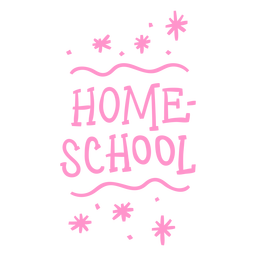 Sparkly homeschool lettering