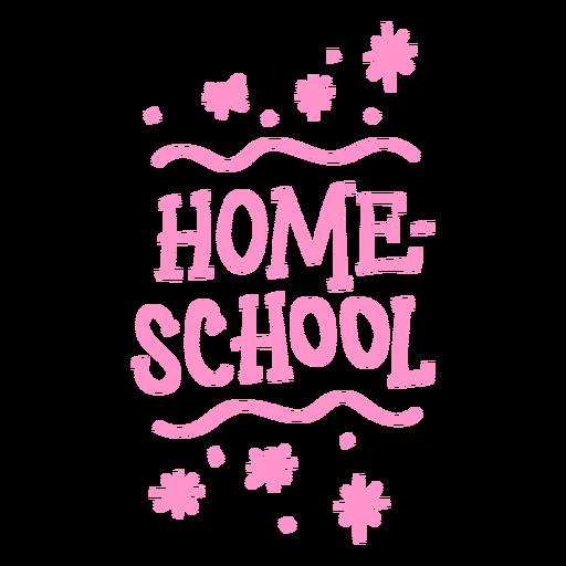 Letras brillantes de educación en casa