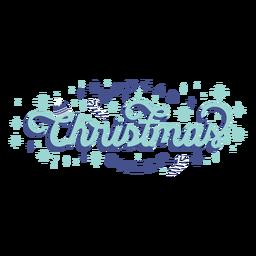 Difundir la insignia de letras de alegría navideña