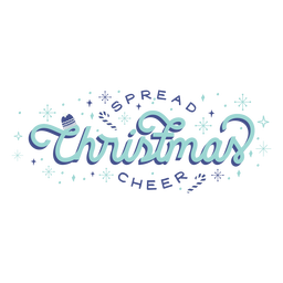 Spread christmas cheer lettering badge