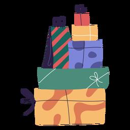 Ilustração de pilha de presentes de Natal