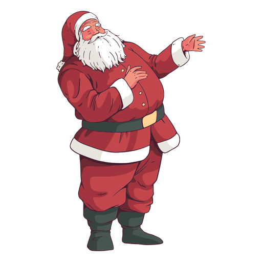 Standing santa cllaus holiday design