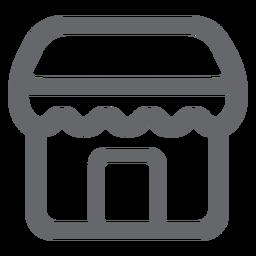 Icono de tienda tienda plana