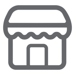 Store icon flat store