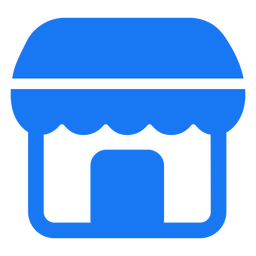Store icon flat design