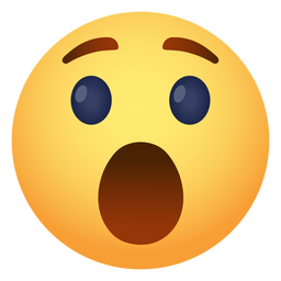 Emoji de icono sorprendido