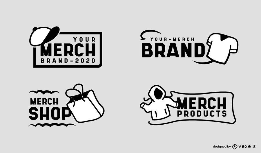 Diseño de conjunto de logotipos de Merch