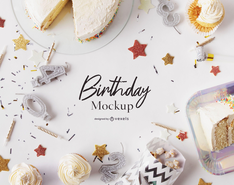 Birthday mockup composition