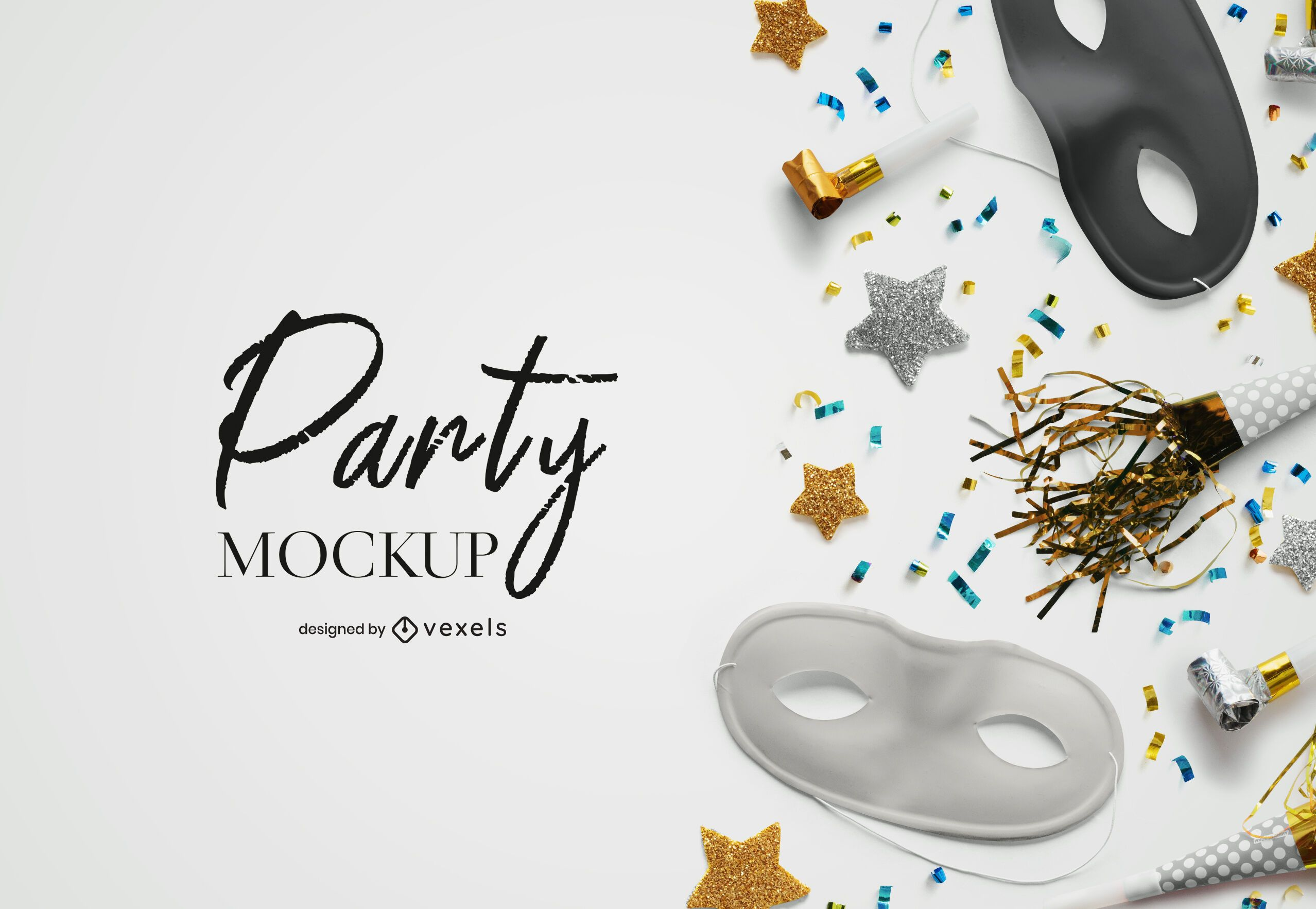 Party mockup composition psd