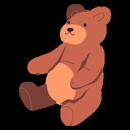 Diseño de ilustración de oso de peluche