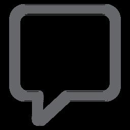 Ícone de bolha de texto plano