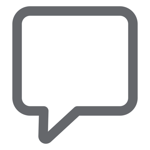 Text bubble icon flat Transparent PNG