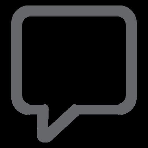Text bubble icon flat