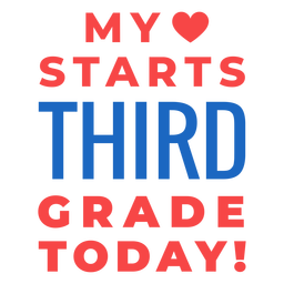 Letras de regreso a la escuela de tercer grado