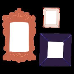 Ilustração de três quadros