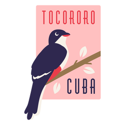 Tocororo cuba bird flat design