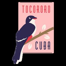 Tocororo Kuba Vogel flaches Design