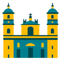 Diseño de ilustración de edificio de torre