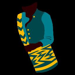 Ilustração de roupas tradicionais colombianas