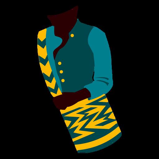 Ilustración de ropa tradicional colombiana