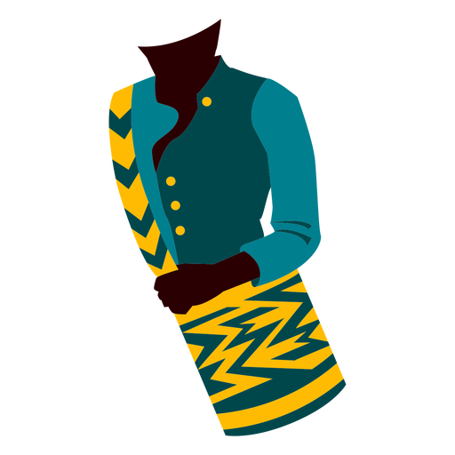 Traditional colombian clothing illustration