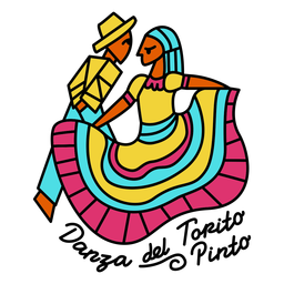 Traditional dancing costumes illustration
