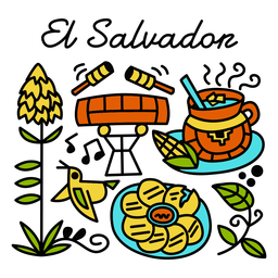 Ilustração tradicional de el salvador