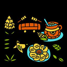 Traditional el salvador illustration