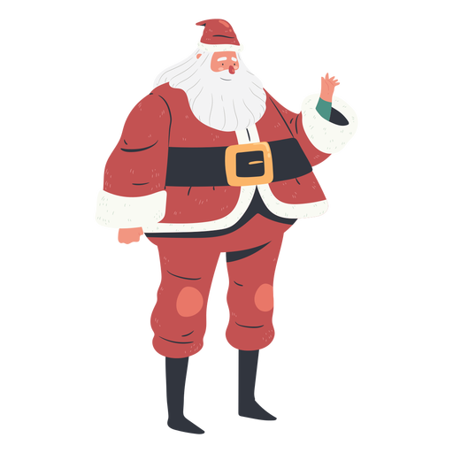 Traditional standing santa claus