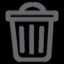 Icono de papelera plana