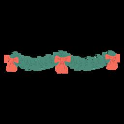 Triple bow ornament decoration