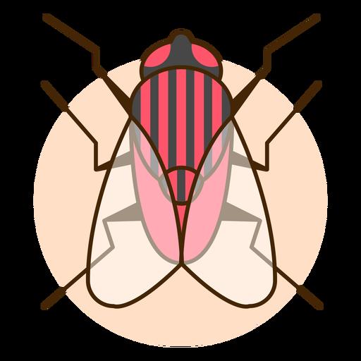 Ilustración de icono de mosca de vista superior