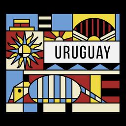 Padrão de arte do Uruguai