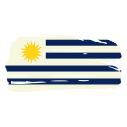 Desenho da bandeira em escova do Uruguai