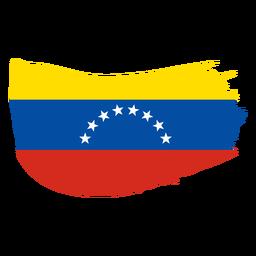 Desenho de bandeira em escova da Venezuela