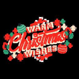 Letras quentes de desejos de natal