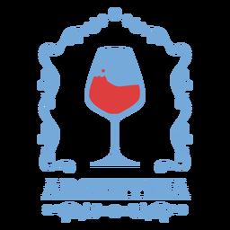 Copa de vino insignia de imágenes de argentina