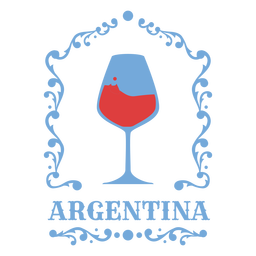 Wine glass argentina imagery badge