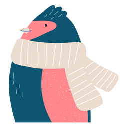 Ilustración de pingüino de invierno